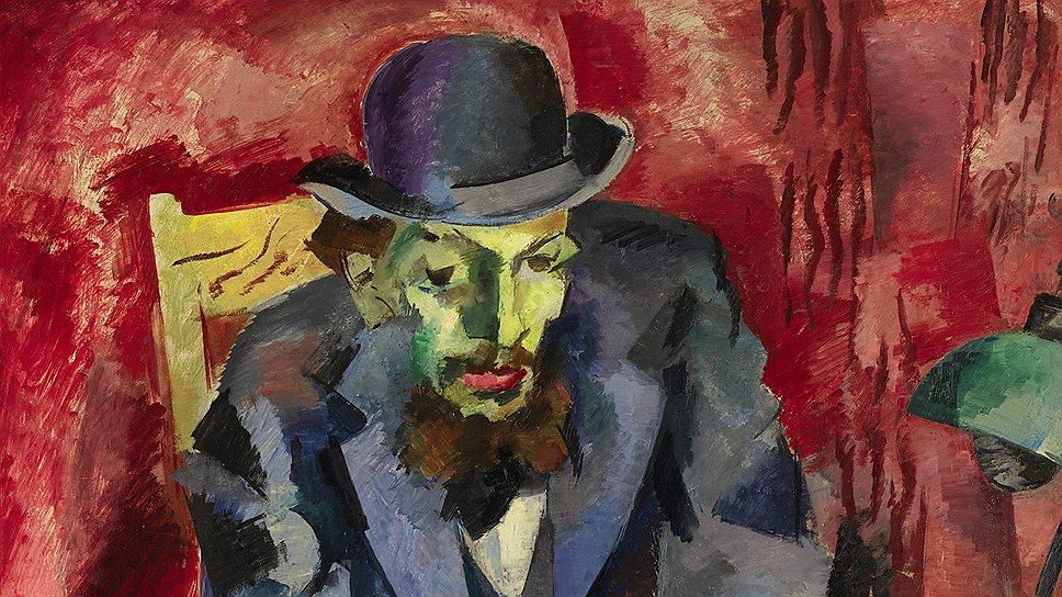 Роберт Фальк. «Человек в котелке (портрет Якова Каган-Шабшая)», 1917 год.  Sotheby's, эстимейт £2,5–3,5 млн