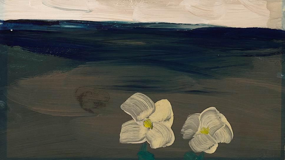 """""""Пейзаж с двумя цветками"""", 1968 год"""