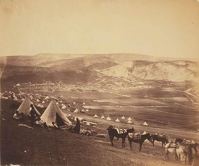 """""""Лагерь конницы рядом с Балаклавой"""", 1855год"""
