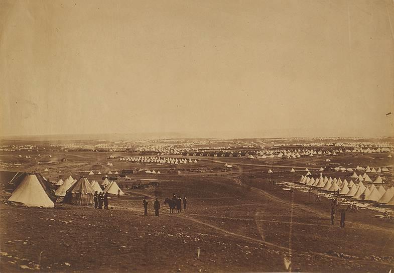 """""""Панорама севастопольского плоскогорья"""", 1855год"""