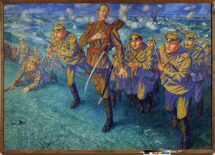 "Кузьма Петров-Водкин. ""На линии огня"", 1916год"