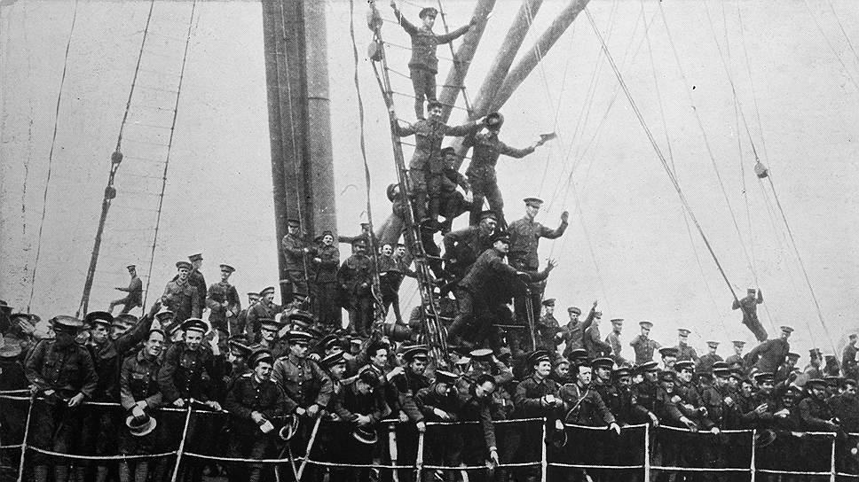 Прибытие британских военных во Францию, август 1914 года