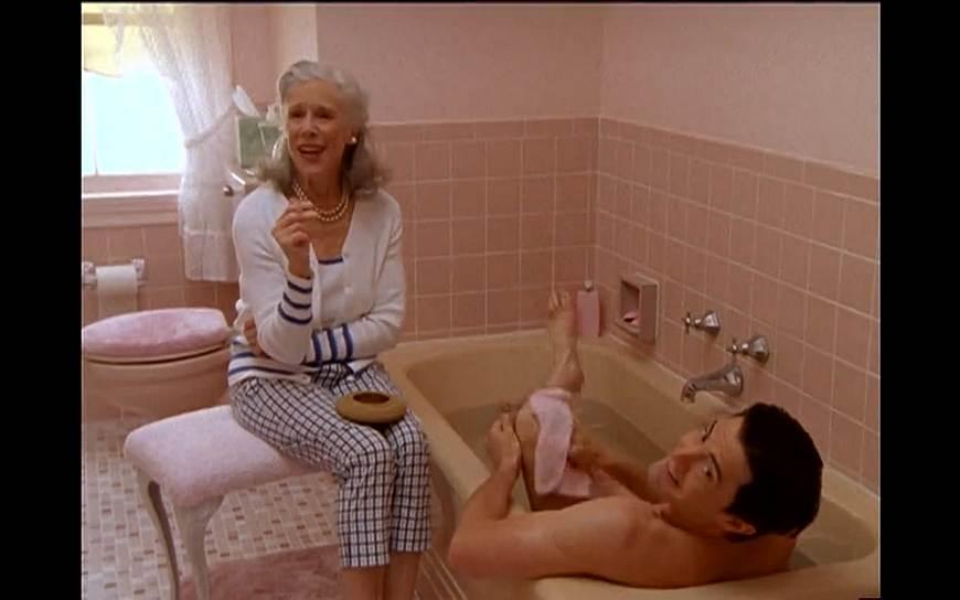 """Кадр из сериала """"Секс в большом городе"""", сезон 4, эпизод 9 """"Секс за городом"""", 2001 год (оператор Алик Сахаров)"""