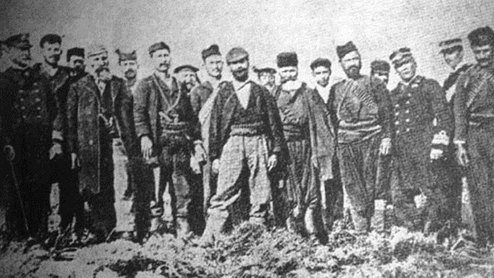 Элефтериос Венизелос среди повстанцев на Акротири
