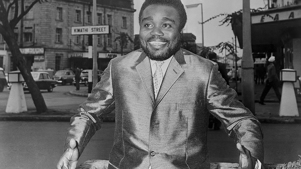 """Самопровозглашенный """"вице-президент республики Южное Киву"""" Лоран-Дезире Кабила во время переговоров с конголезским правительством в Найроби, 1964 год"""