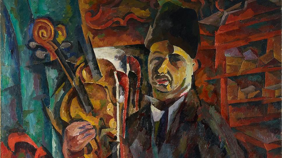 """Автопортрет со скрипкой"", конец 1910-х -- начало 1920-х годов. ГТГ"