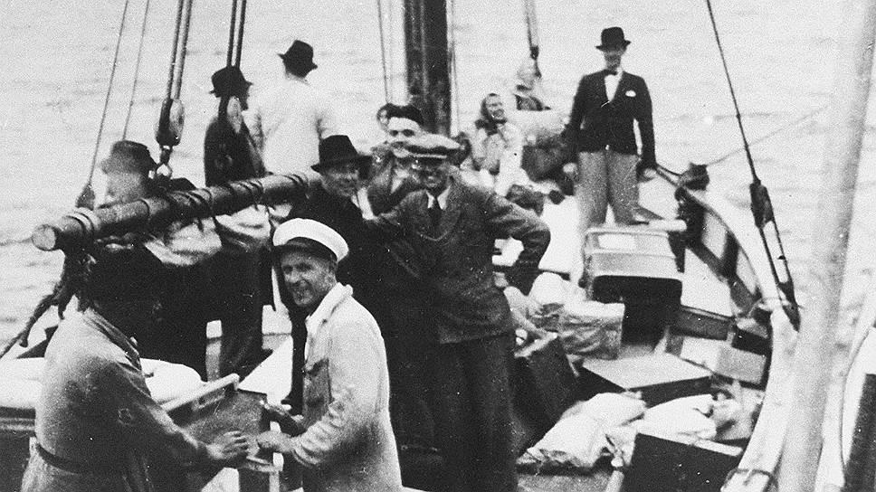 Датские евреи плывут в Швецию, 1943