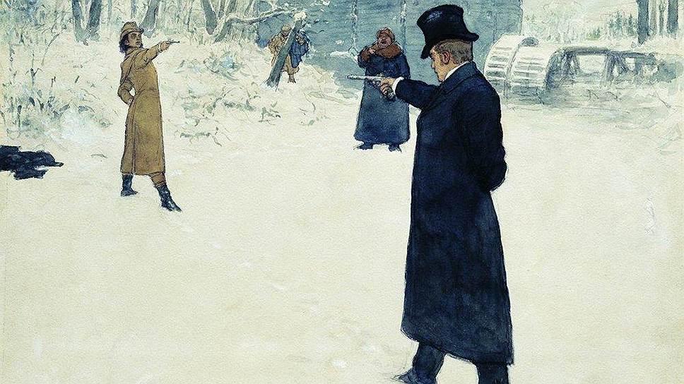 Илья Репин. «Дуэль Онегина и Ленского», 1899 год