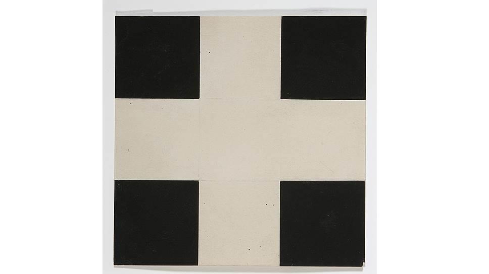 """Илья Чашник. """"Белый крест на черном фоне"""", 1923-1924 годы"""