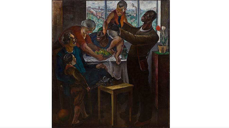 """Абрам Черкасский. """"Приезд чужеземных работников"""", 1932 год"""