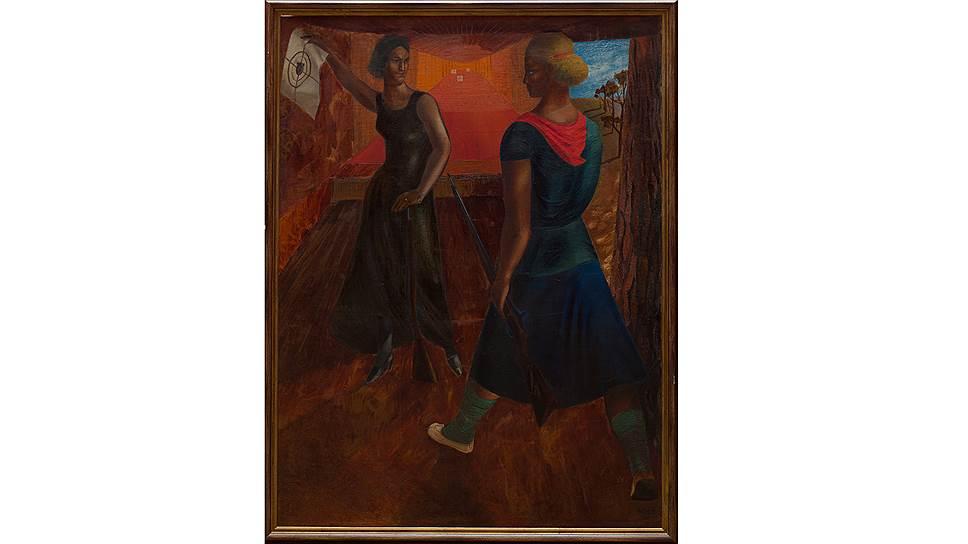 "Семен Йоффе. ""В тире"", 1932 год"
