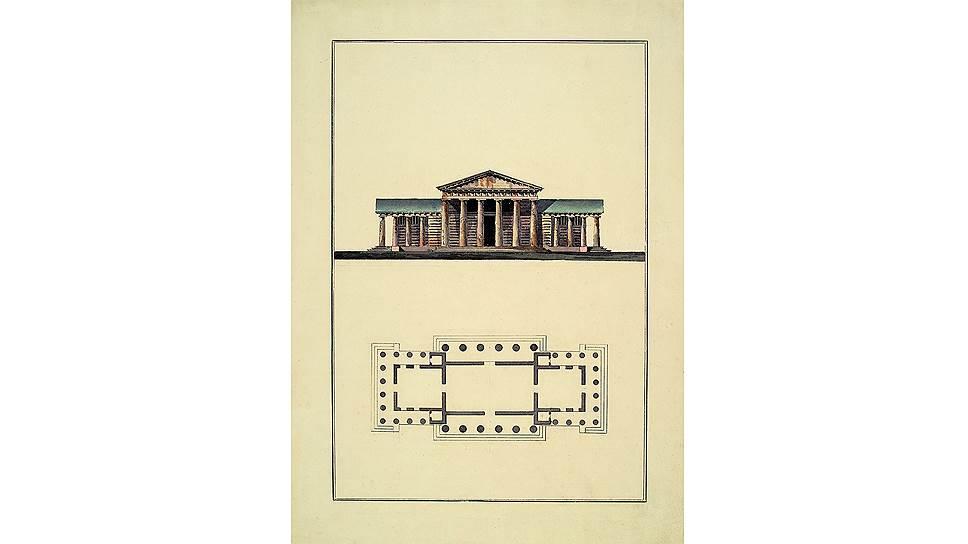 Николай Львов. Проект дровяного сарая в усадьбе Никольское- Черенчицы, 1780–1790-е годы
