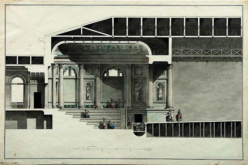 Джакомо Кваренги. Эрмитажный театр Зимнего дворца в Петербурге, 1783–1785 годы