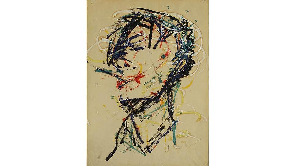 """""""Автопортрет с сигаретой"""", 1956год"""