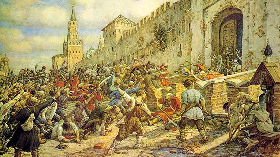 """Эрнест Лисснер. """"Соляной бунт в Москве, 1648"""", 1938 год"""