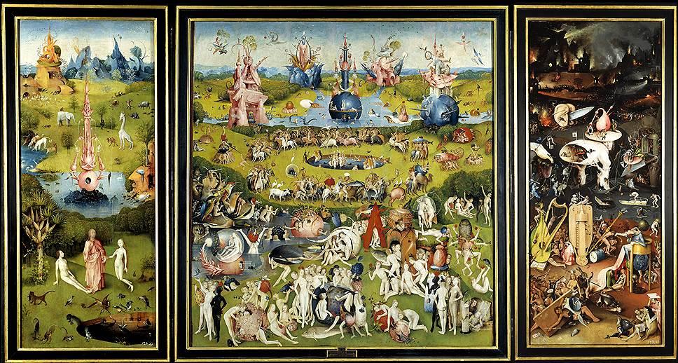 """Иероним Босх. """"Сад земных наслаждений"""", 1500-1505годы"""