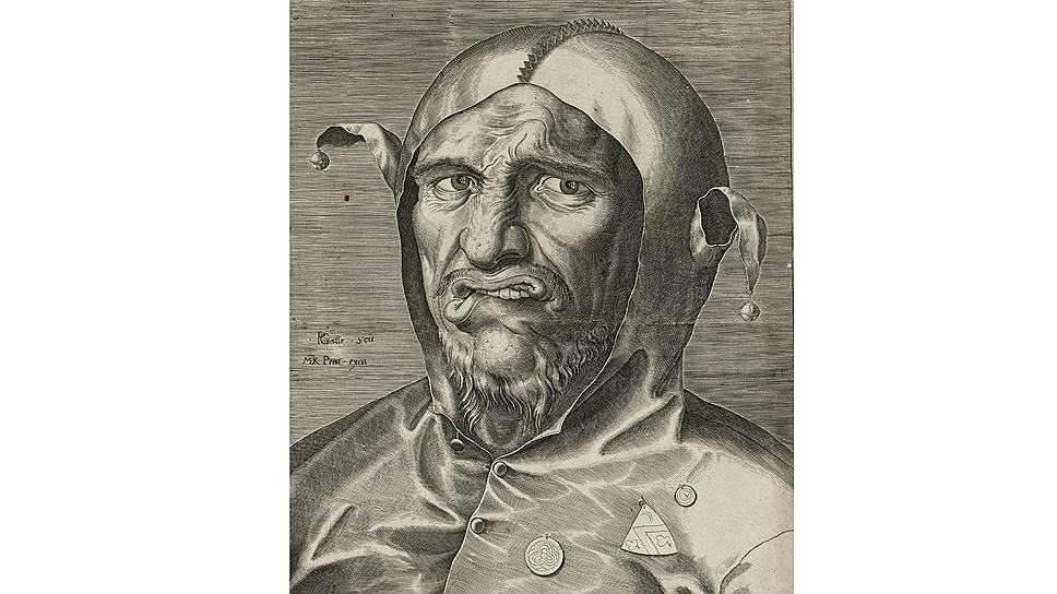 """Филипп Галле. """"Голова шута"""", около 1560года"""