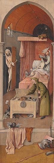 """""""Смерть скупца"""", 1500–1510 годы. Из коллекции Национальной галереи искусства в Вашингтоне"""