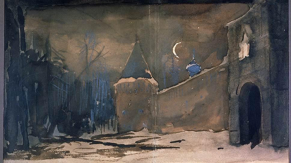 "Исаак Левитан. Эскиз к опере ""Жизнь за царя"", 1885год"