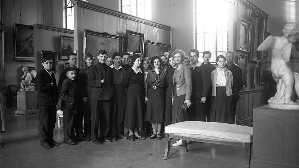 Школьная экскурсия, 1930-е годы