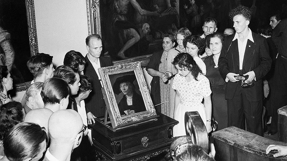 """""""Выставка картин Дрезденской галереи"""", 1955год"""