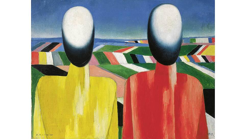 Казимир Малевич. «Два крестьянина на фоне полей», около 1930 года
