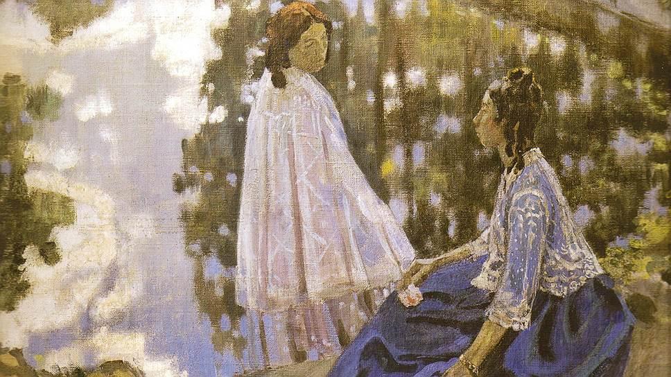 """Виктор Борисов-Мусатов. """"У водоема"""", 1902год"""