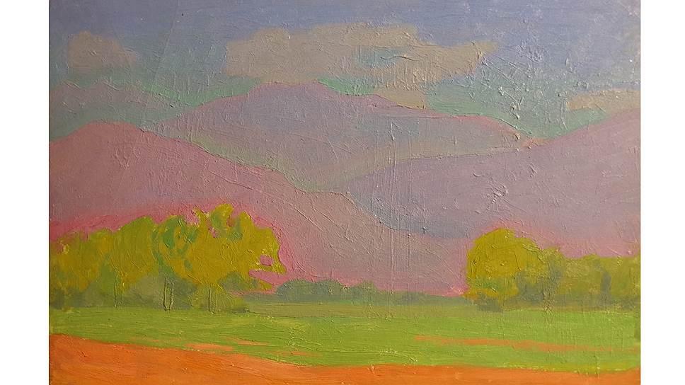 Порфирий Фальбов. «Вечерний пейзаж», 1965 год. «В защиту радуги» в Музее Востока