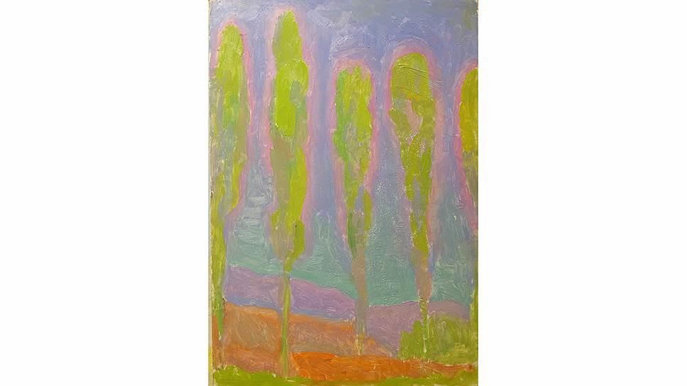 Порфирий Фальбов. «Тополи на фоне синего неба», 1965 год. «В защиту радуги» в Музее Востока