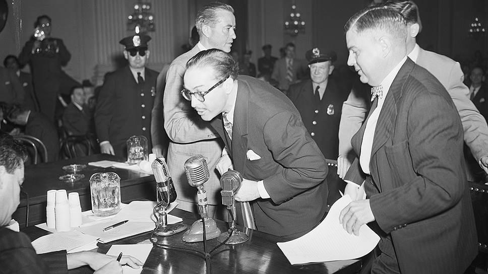 Дальтон Трамбо на слушаниях комиссии по расследованию антиамериканской деятельности, 1947год