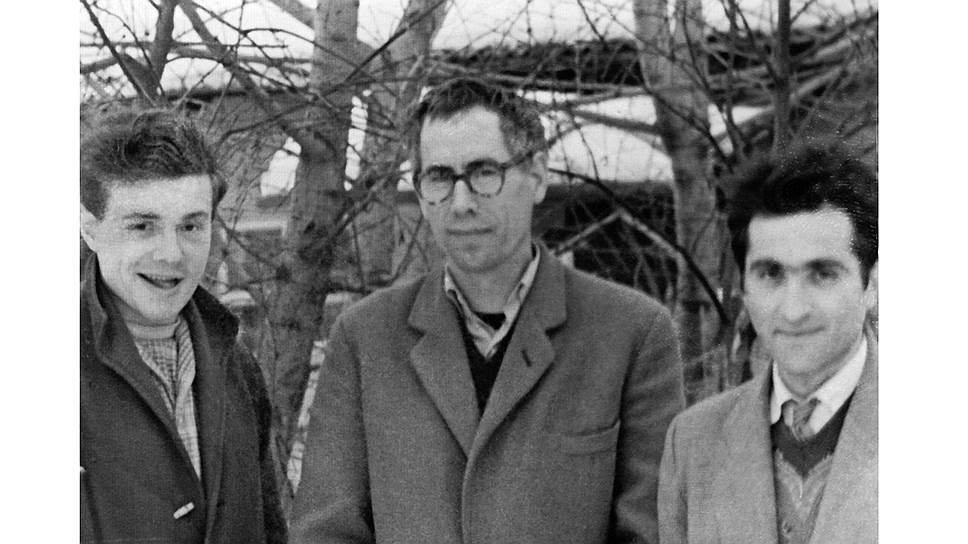 Слева направо: Всеволод Некрасов, Игорь Холин и Генрих Сапгир, 1960-егоды