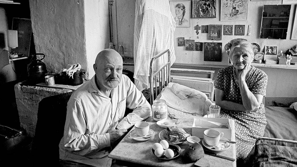 Евгений Кропивницкий и Ольга Потапова, 1968год. Фото Игоря Пальмина