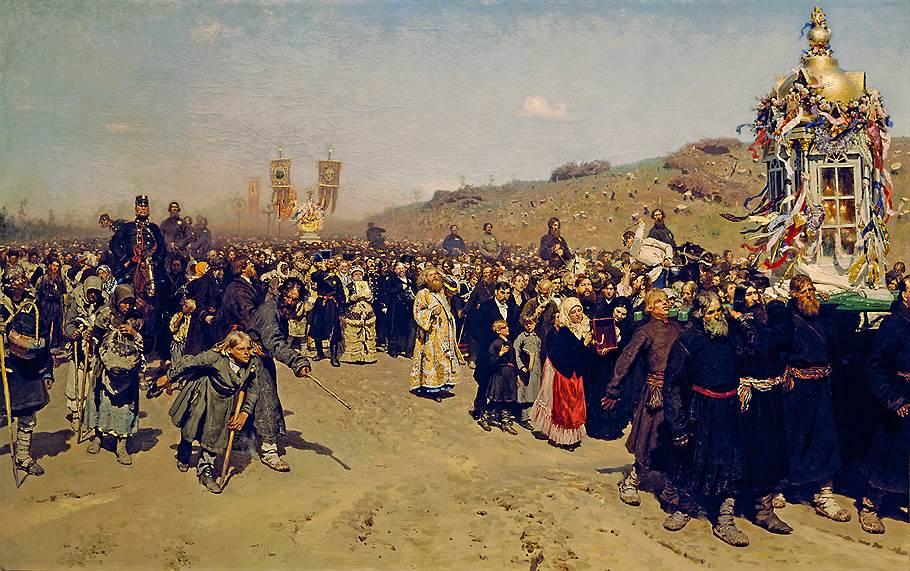 Илья Репин. «Крестный ход в Курской губернии», 1880-1883годы