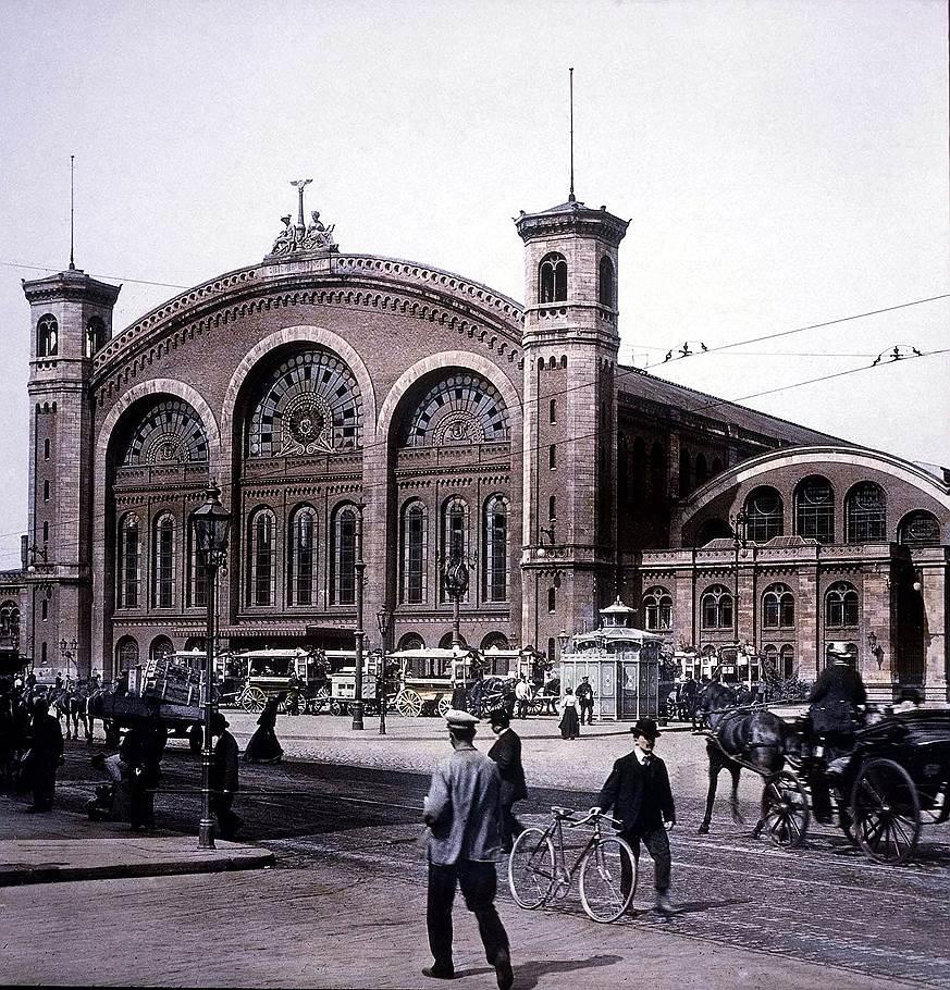 Штеттинский (сейчас — Северный) вокзал в Берлине, на который прибыли высланные из Советского Союза