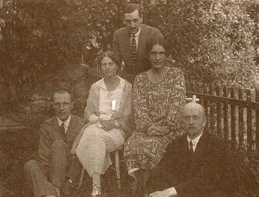 Слева направо: Аркадий Столыпин, Елена Волконская, Наталья Ильина и Иван Ильин. Италия, 1927 год