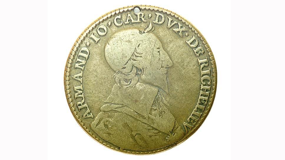 Жан Варен. Медаль с портретом кардинала Ришелье, 1631 год