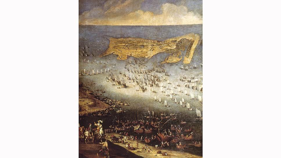 Клод Лоррен. «Осада Ла-Рошели войсками Людовика XIII», 1631  год