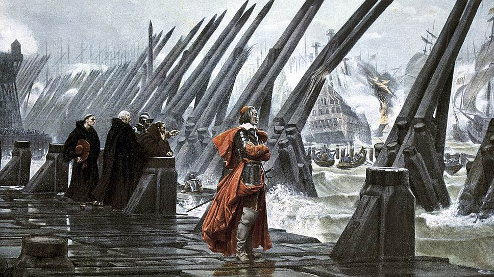 Анри-Поль Мотт. «Кардинал Ришелье во время осады Ла-Рошели», 1881 год
