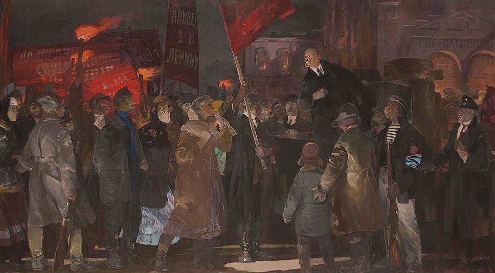 Анатолий Казанцев. «Приезд В. И. Ленина в Петроград 3 апреля 1917 года», 1967 год