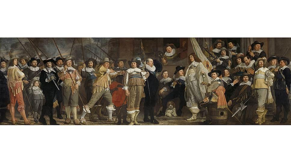 Бартоломеус ван дер Гельст. «Отряд стрелков VIIIрайона Амстердама под руководством капитана Роелофа Бикера и лейтенанта Яна Блау», 1639год