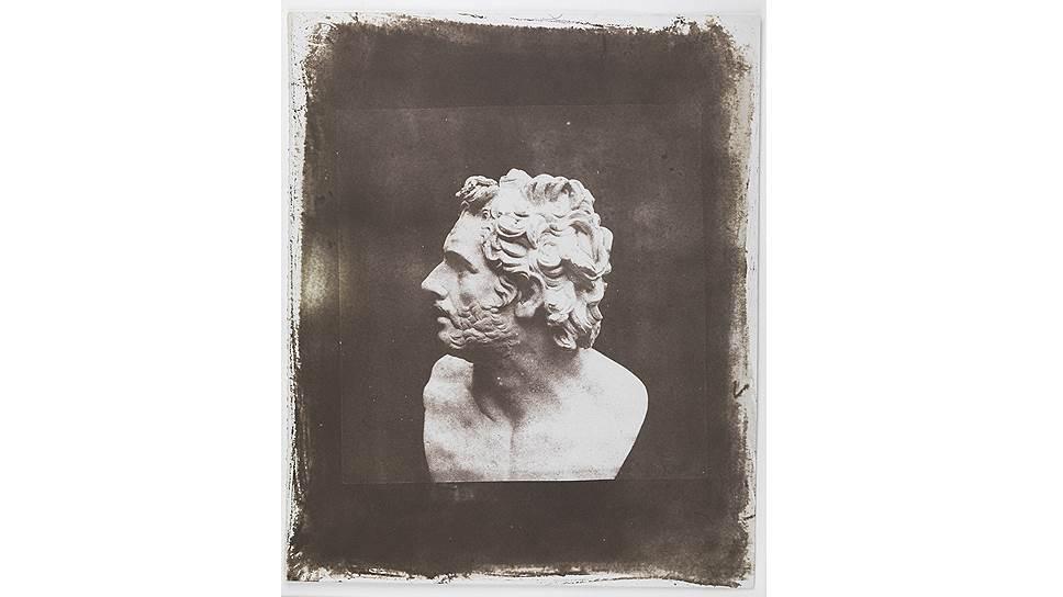 Бюст Патрокла, профиль. Лист XVII из альбома «Карандаш природы», 1843 год