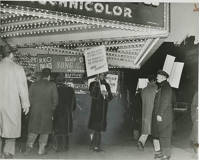 Демонстрация против фильма «Песня Юга», Нью-Йорк, 1946