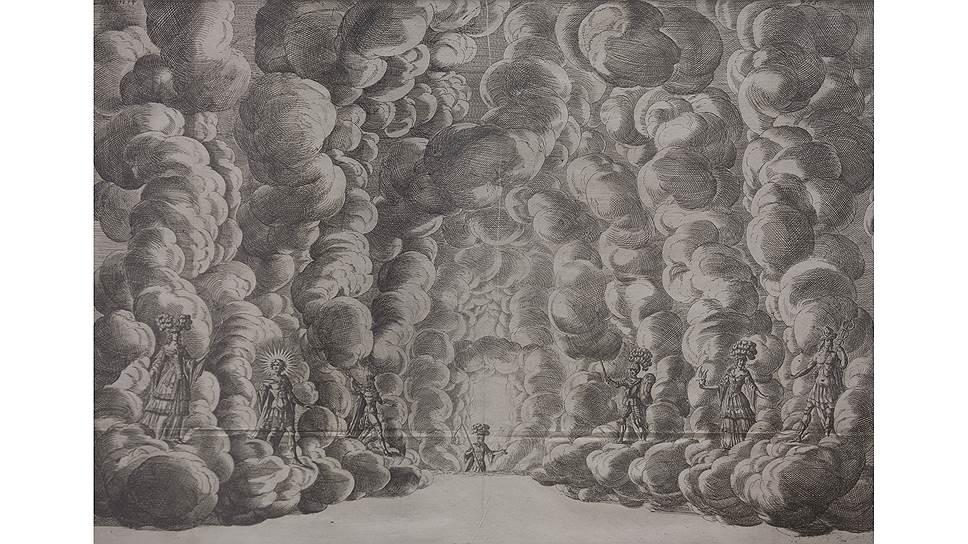 Иоганн Освальд Хармс. Сценография балета «О встрече и движении семи планет», XVIIвек