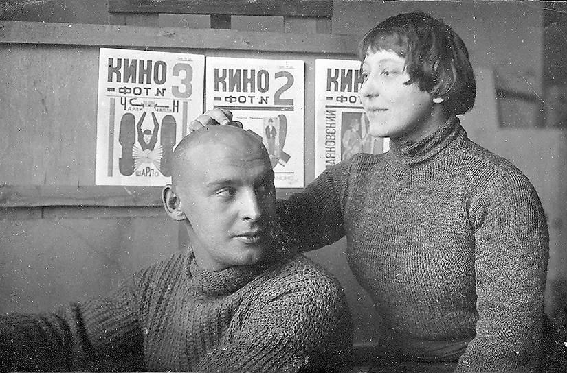 Александр Родченко и Варвара Степанова. Фотограф Михаил Кауфман, 1923