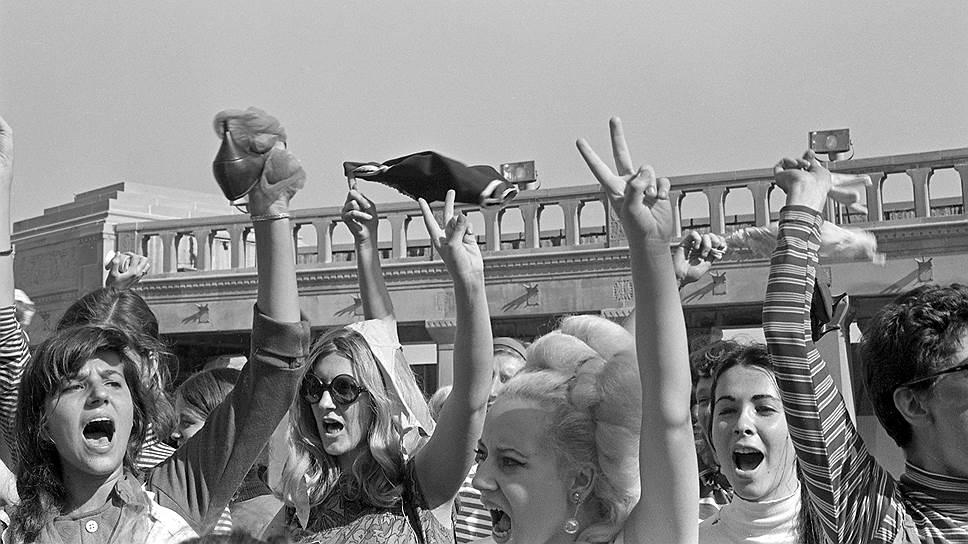 Протестующие против конкурса «Мисс Америка», Атлантик-Сити, 1968
