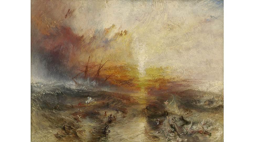 Уильям Тёрнер. «Невольничий корабль», 1840