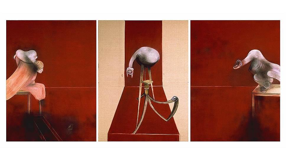 Фрэнсис Бэкон. Вторая версия триптиха «Три этюда к фигурам у подножия распятия», 1988