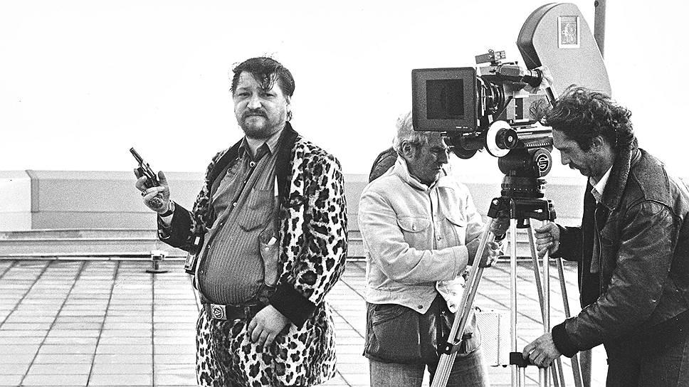Райнер Вернер Фассбиндер на съемках «Камикадзе-1989», 1982
