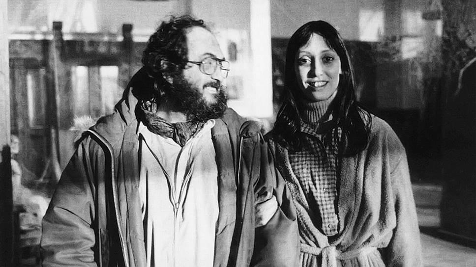 Стэнли Кубрик и Шелли Дювал на съемках «Сияния», 1980