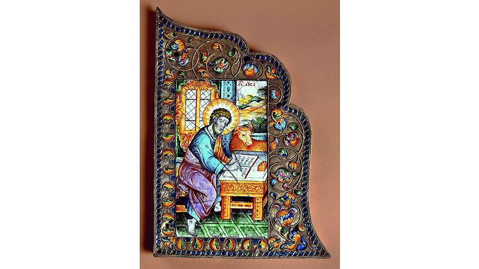 Наугольник Евангелия с изображением евангелиста Луки, вторая половина XVIIвека